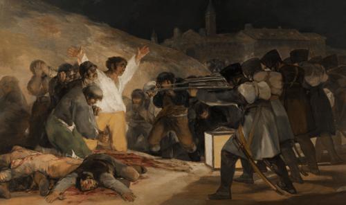 Twee mei schilderij van Goya