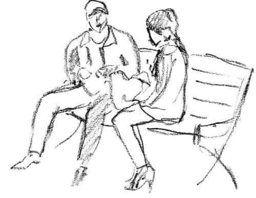 Een tekening als onderdeel van de psychologietest voor koppels