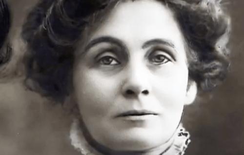 Een portretfoto van Emmeline Pankhurst