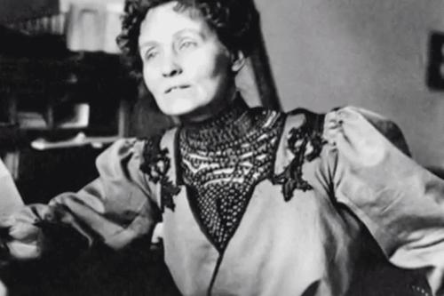 Een foto van Emmeline Pankhurst