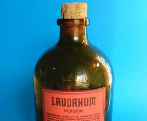 Een fles laudanum