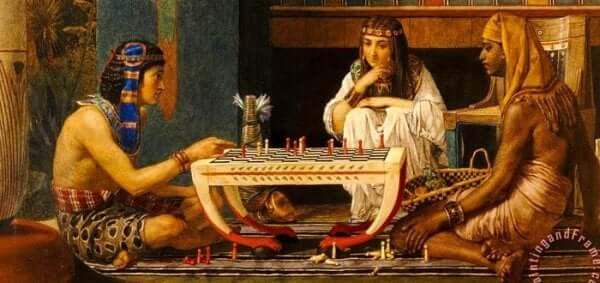 Een schilderij uit de Egyptische cultuur