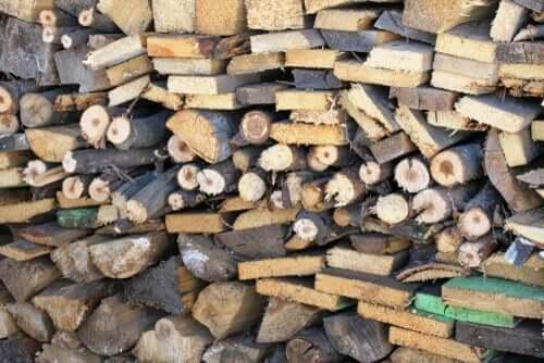 Een stapel hout
