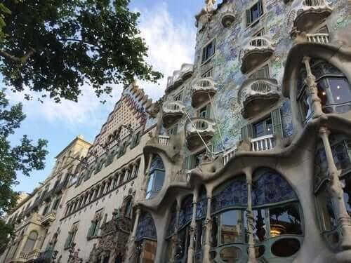 Het Batlo-huis in Barcelona