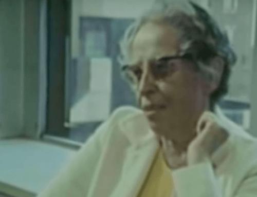 Een afbeelding uit een interview met Hannah Arendt