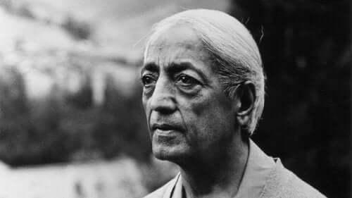 Een portret van Krishnamurti