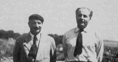 Een zwartwitfoto van Boss en Heidegger