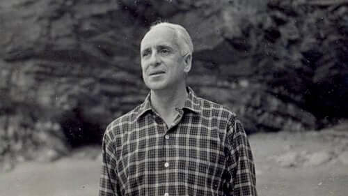 Een zwartwit foto van Severo Ochoa