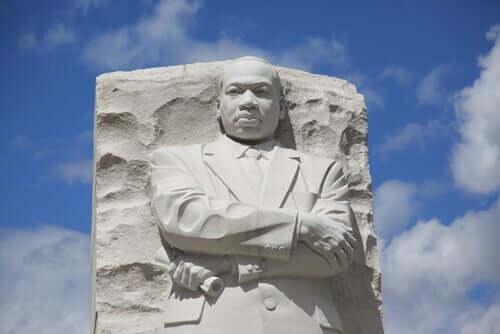 Een beeld van Martin Luther King Jr.