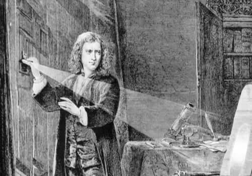 Newton experimenteert met licht
