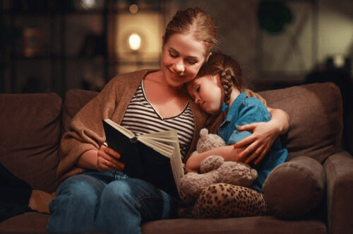 Moeder en dochter hebben quality time