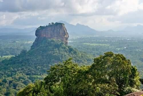 Een gebergte in Sri Lanka