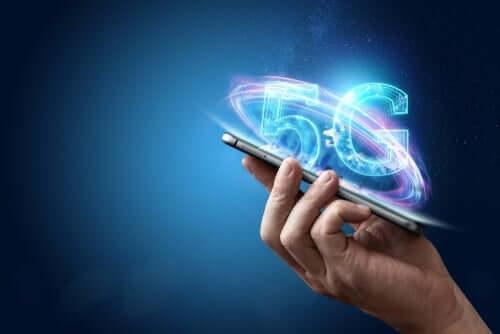 G5-netwerk op een telefoon