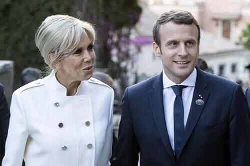 Emmanuel Macron en zijn vrouw