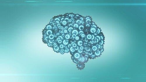 Een afbeelding van de hersenen als tandwieltjes