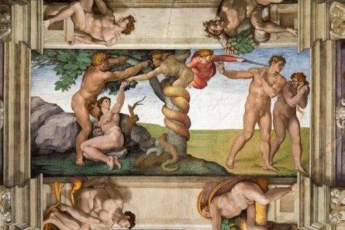Het schilderij van Michelangelo