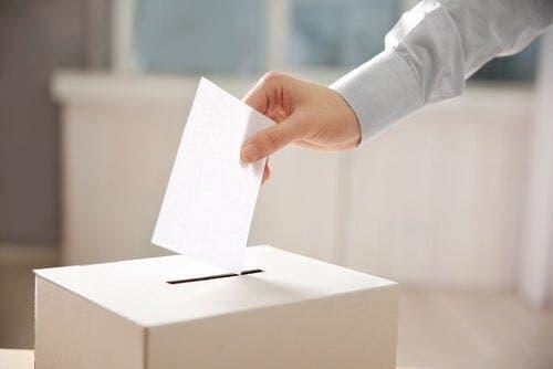 Een stem in de stembus