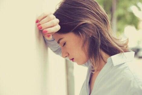 Vrouw met emotionele problemen