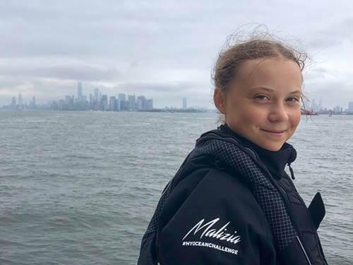 Greta Thunberg op weg naar Amerika