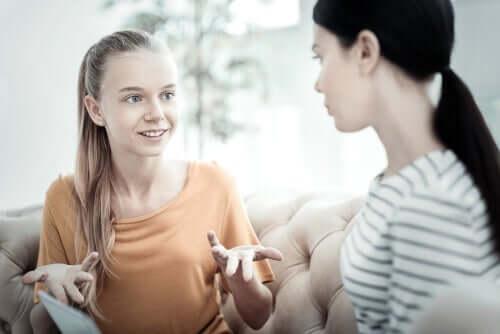 Tiener met anorexia nervosa in therapie