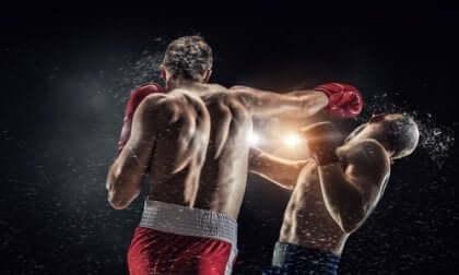 Twee mannen zijn aan het boksen