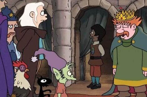 Prinses Bean, Elfo en Luci met de koning