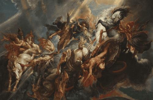 Het schilderij The Fall of Phaeton van Rubens