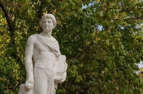 Een standbeeld van Orpheus