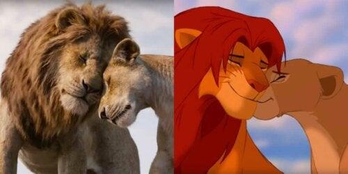 Vergelijkende beelden van beide versies van de film