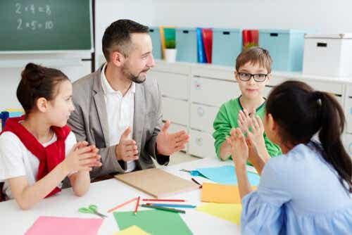 Actieve participatie in plaats van luisteren naar alleen de leraar