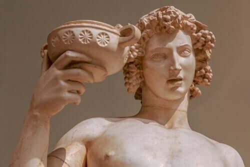 De mythe van Dionysos, God van wijn en plezier