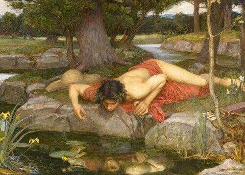 Echo en Narcissus van John William Waterhouse