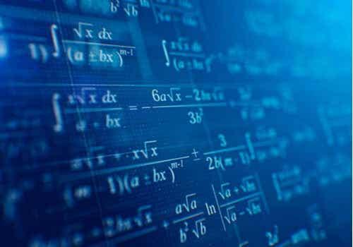 Wiskunde op een schoolbord