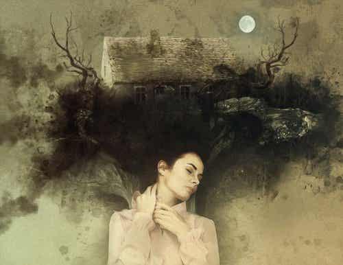 Een vrouw gevangen in een nachtmerrie